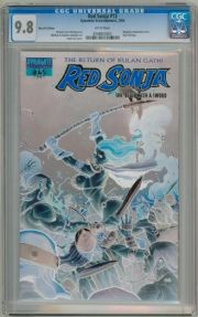 Red Sonja #13 Frank Cho Blue Foil Negative Variant CGC 9.8 Dynamite Entertainment comic book